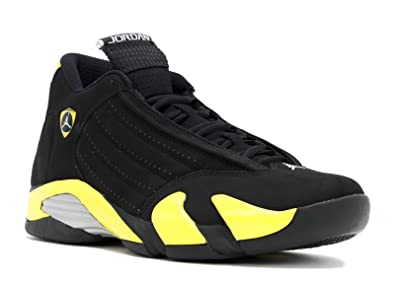 Air Jordan 14 Men's Shoes Black/Vibrant Yellow-White 487471-070 (8