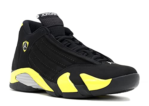 f5892dba68b9 Nike Air Jordan 14 Retro Men Sneakers Black/White/Vibrant Yellow 487471-070
