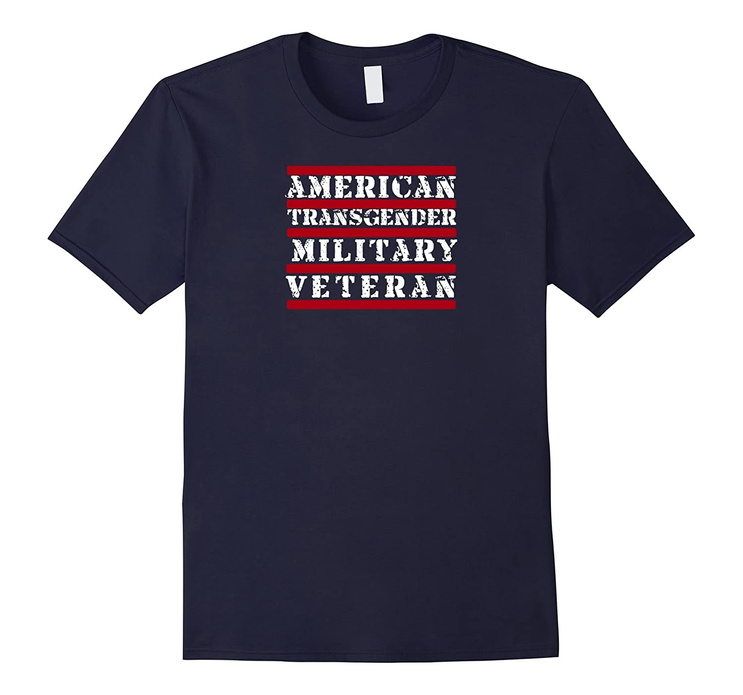 American Transgender Military Veteran T Shirt-Art