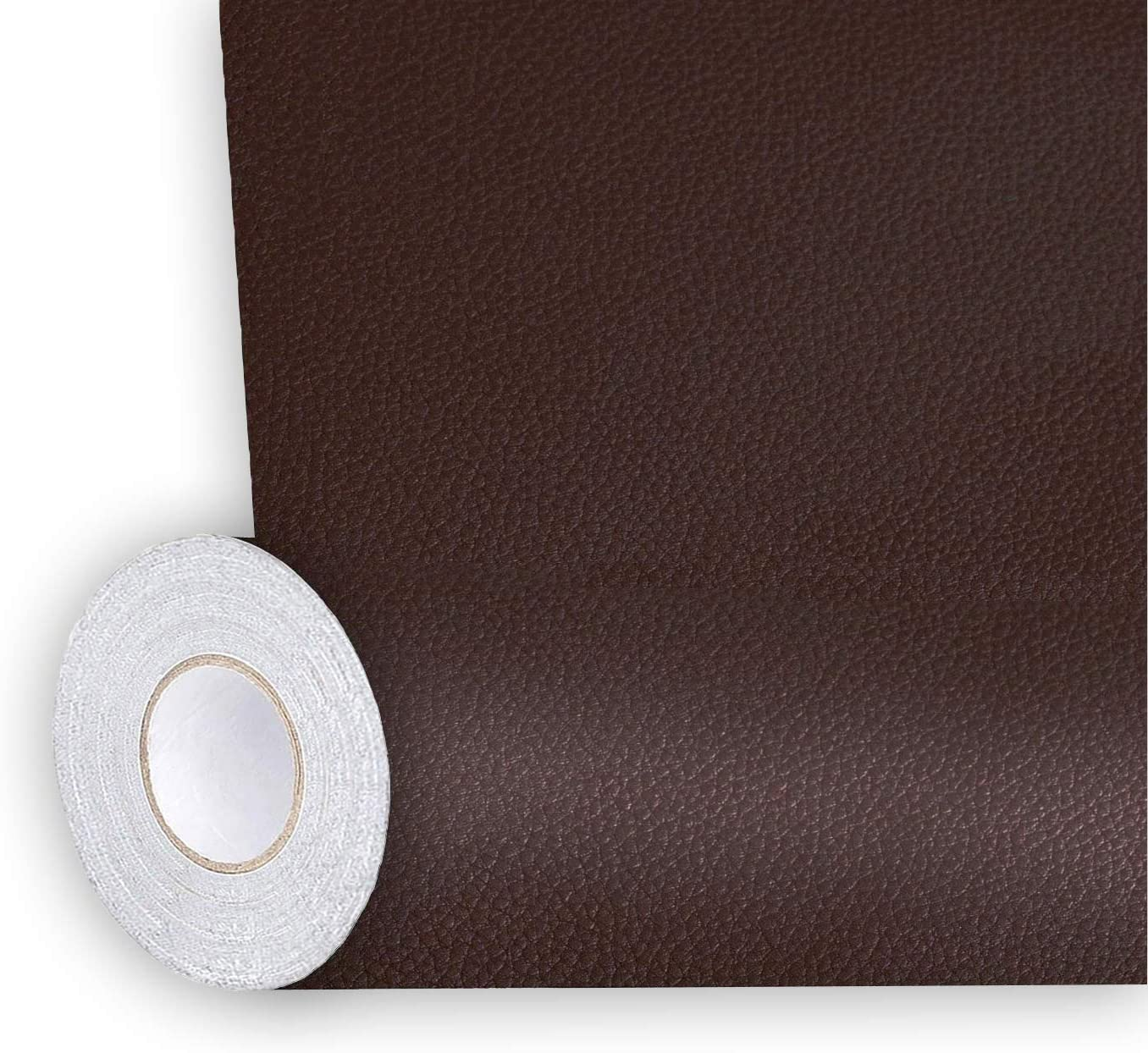 Shagoom Leather Repair Patch, Repair Patch Self Adhesive Waterproof, DIY Large Leather Patches for Couches, Furniture, Kitchen Cabinets, Wall (Dark Brown, 17X79 inch)