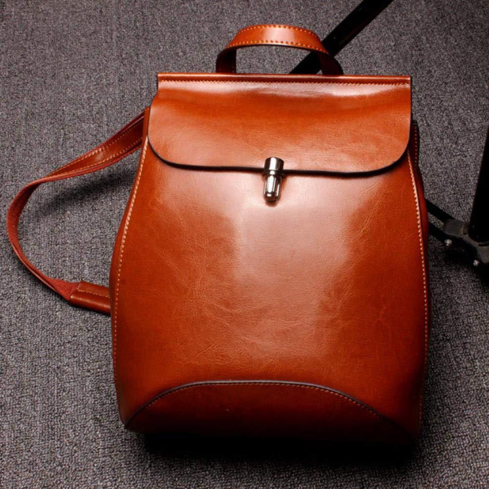 rouge marron  XSRK-sac 2019 de Haute qualité véritable Sac Femmes Sac à Dos en Cuir Femme Sac à Dos à Dos en Cuir de Vache Cire d'huile d'épaule Occasionnel