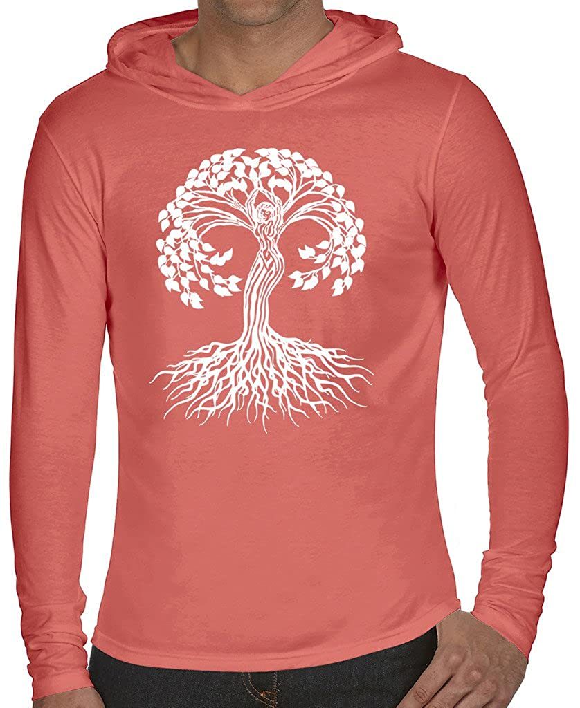 Yoga Clothing For You Mens Celtic Tree Hoodie Tee Shirt 4900-CELTICTREE