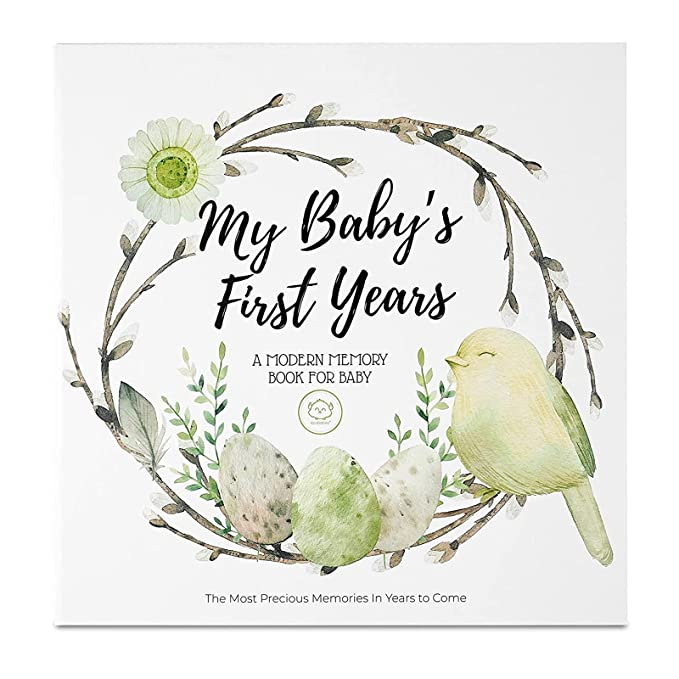 Memories First Year Photo Album Perfect for Boys and Girls Baby Shower Present Milestones Achievements Baby Memory Book Baby Journal Up to The First 5 Years