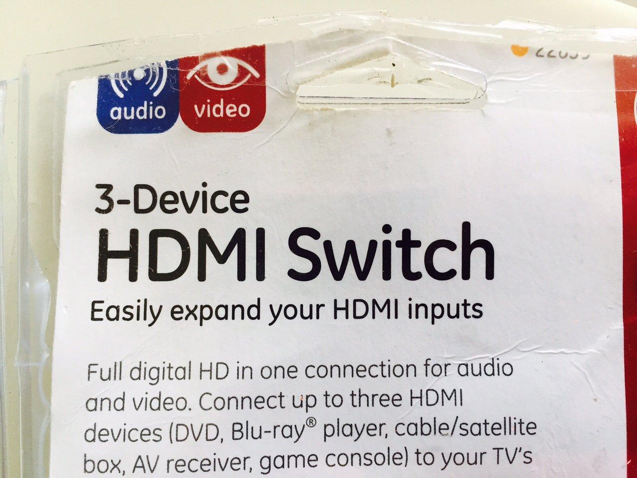 Amazon.com: GE 3 Device HDMI Switch - 11701: Home Audio & Theater