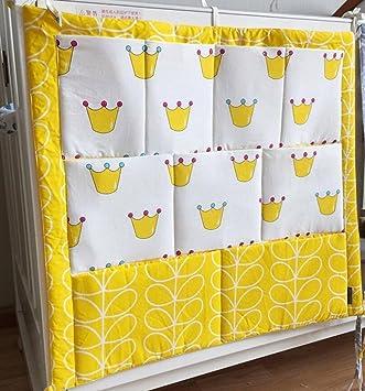 Utensilio Vine Baby Betttasche f/ür Baby Bett Aufbewahrung f/ürs Kinderbett Wandaufbewahrung mit gestickter Applikation