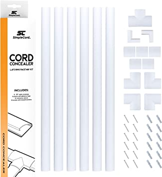 Cable Concealer Wall Power Cord Cover Raceway Kit Hide Wire Cables*