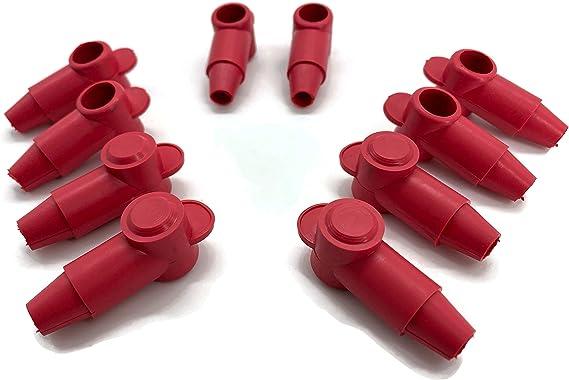 10x Polschutzkappe Rot Für Batteriekabel 1 5 2 5 4 6 8 10 Mm Qmm Kopf 14mm Beleuchtung