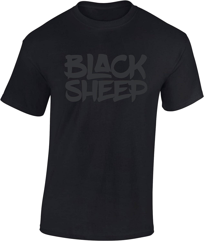 Camiseta: Black Sheep - Oveja Negra - Regalo-s Hombre y Mujer - T-Shirt Hip Hop Rap - Gángster - Biker Auto Coche Moto Deporte - MMA Combate - USA - Cárcel: Amazon.es: Ropa y accesorios