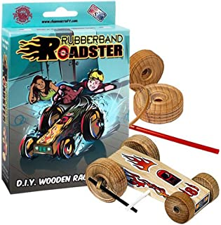 product image for Channel Craft Rubberband Roadster Wooden Racecar Kit- Perfect D.I.Y. Project!