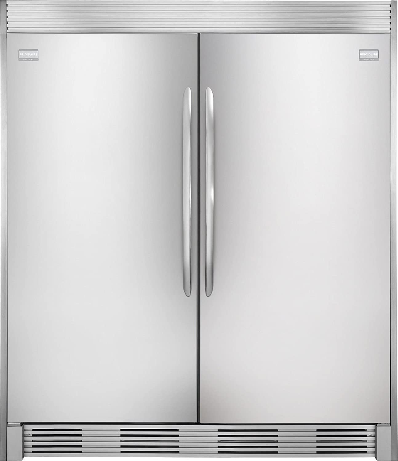 Amazon.com: Frigidaire GALLERY Stainless Steel Refrigerator Freezer Combo U0026  Trim   FGRU19F6QF   FGFU19F6QF   TRIMKITEZ2: Appliances