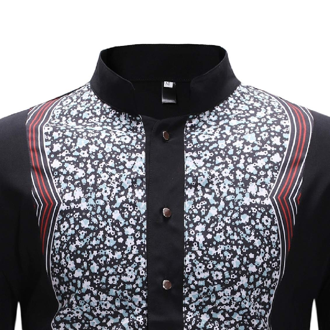 Freely Mens Leisure Printed Business Oversize Tees Polo Shirts