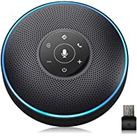 Bluetooth Speakerphone - eMeet M2 Black Conference Speaker for 5-8 People Business Conference Phone 360º Voice Pickup 4…