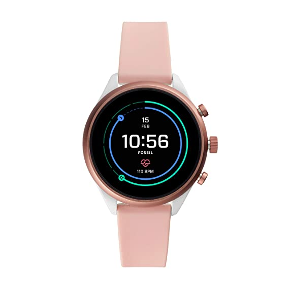 negozio online 07d1d c8f38 Fossil Mens Smartwatch with Silicone Strap