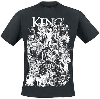 King 810 Satanic Collage T Shirt Black Xxl Amazoncouk Clothing