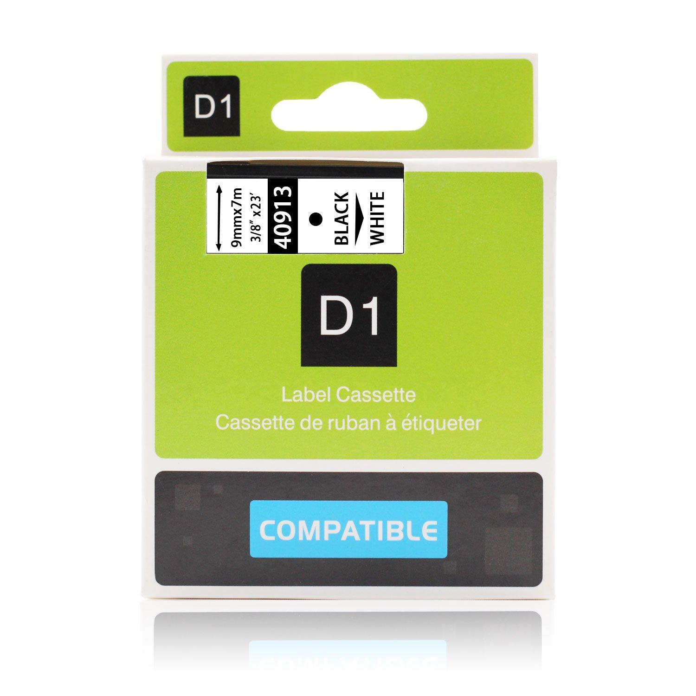 9mm x 7m Labelwell 3X 9mm Compatibile DYMO D1 40913 S0720680 Nero su Bianco Nastri per Etichette per Dymo LabelManager 160 280 260P 360D 500TS LabelWriter 450 DUO Rhino LabelPoint 150 250