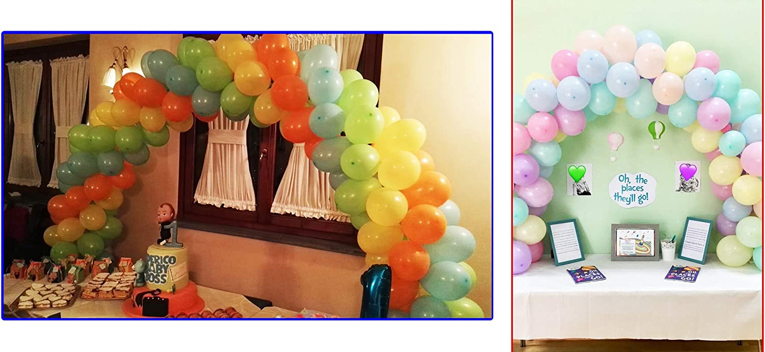 PILIN White Balloon Arch Kit for Different Table Size for Birthday Wedding and Graduation Party