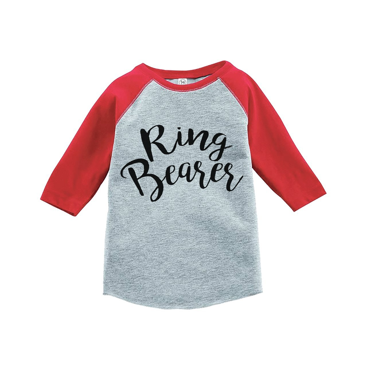 Custom Party Shop Youth Boy's Ring Bearer Wedding Red Raglan XL