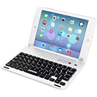 Arteck Ultra-Thin Apple iPad Mini Bluetooth Keyboard Folio Case Cover with Built-in Stand Groove for Apple iPad Mini 3/2…
