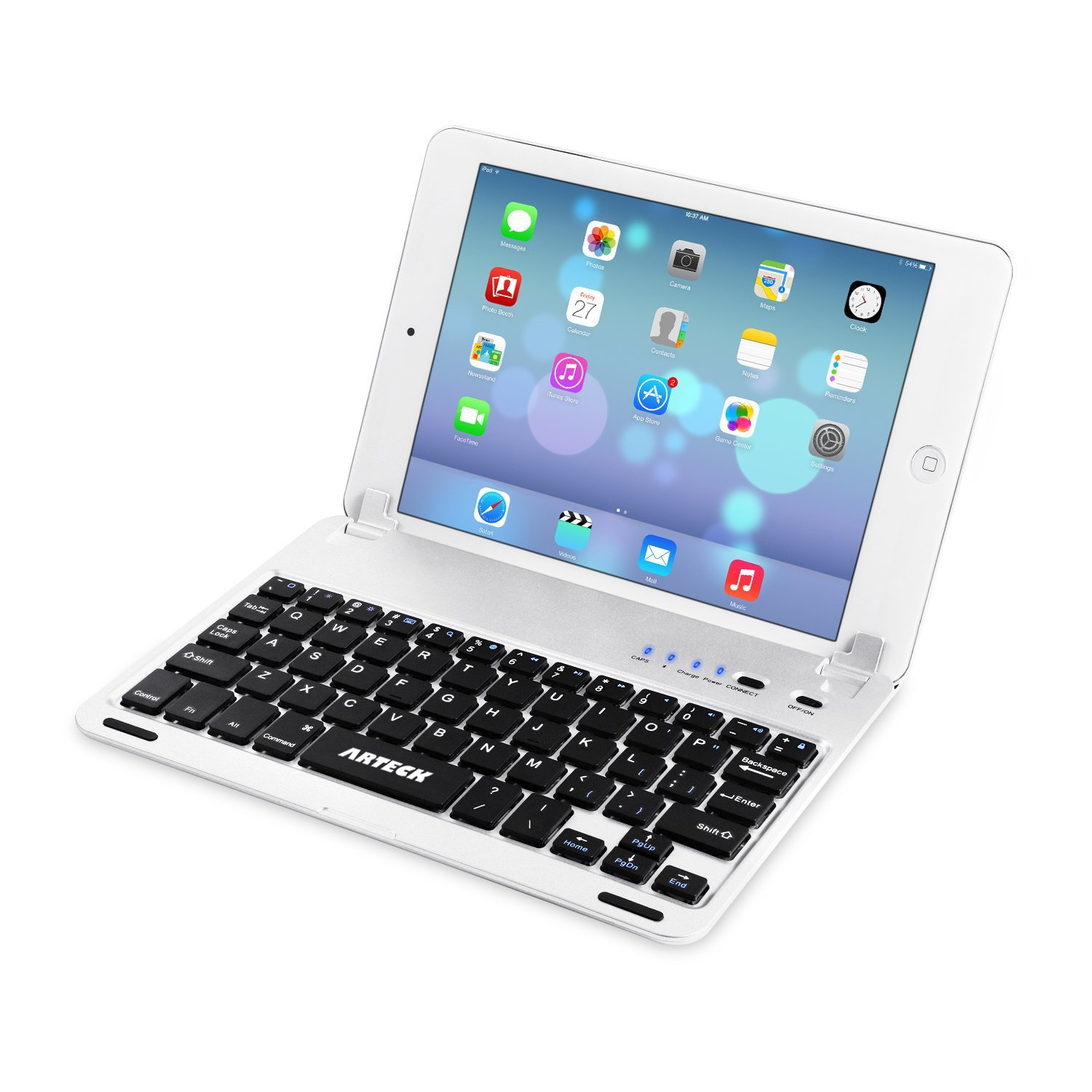 Arteck Ultra-Thin Apple iPad Mini Bluetooth Keyboard Folio Case Cover with Built-in Stand Groove for Apple iPad Mini 3/2 / 1 / iPad Mini with Retina Display with 130 Degree Swivel Rotating HB045