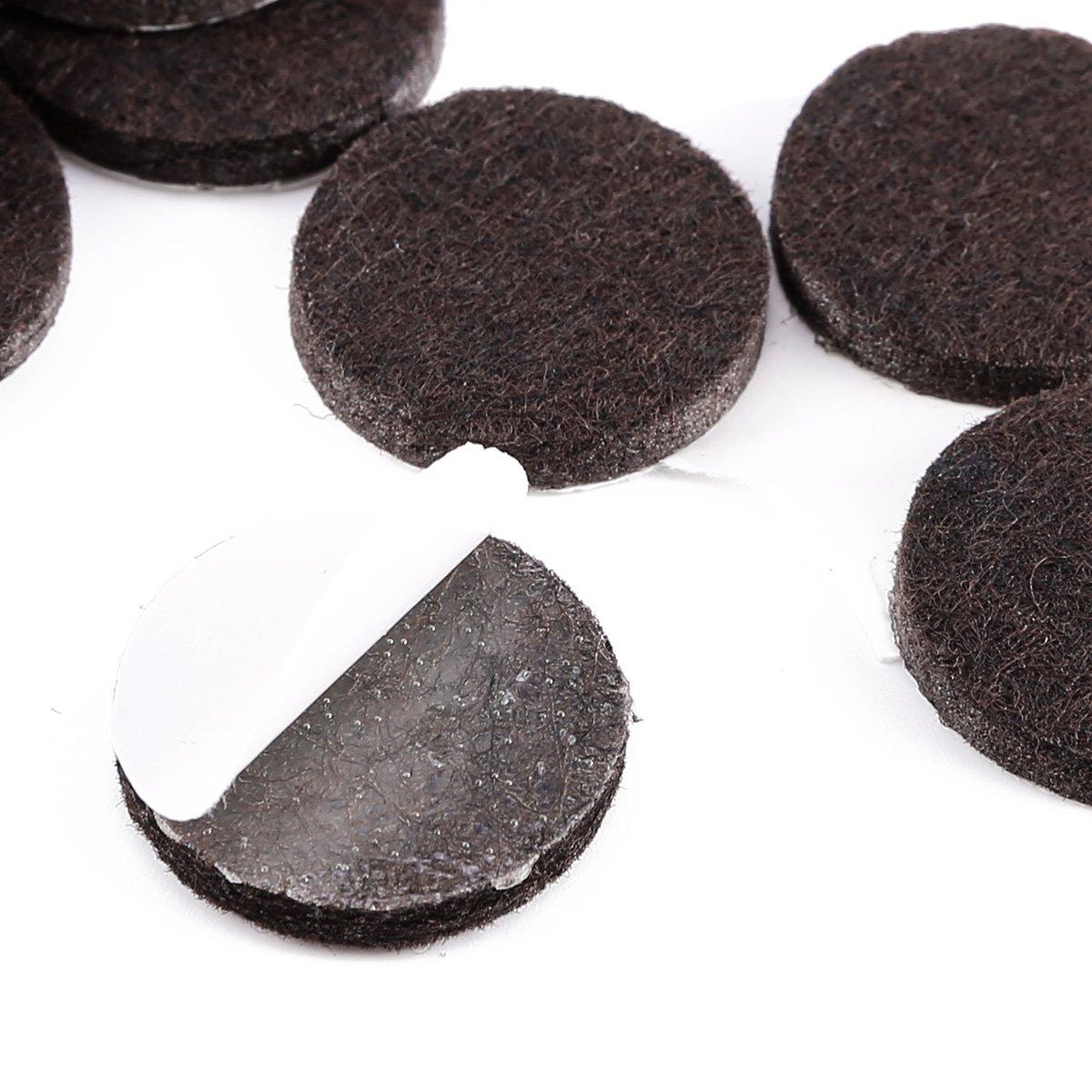 marron 4/mm d/épaisseur en bois de ch/êne protection Sol stratifi/é meubles ronde Patins feutre protecteurs Beige
