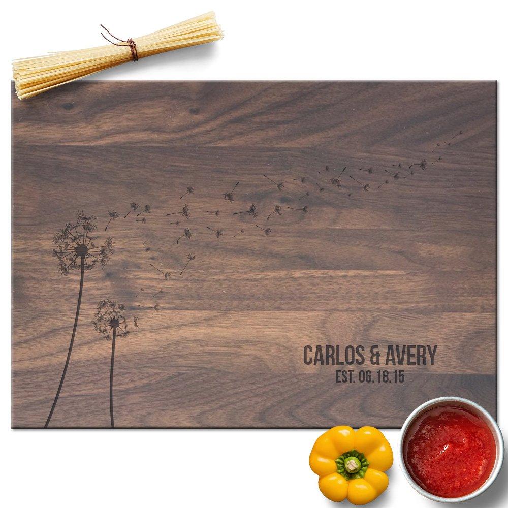 Froolu Dandelion modern cutting board for Newly Weds Wedding Gifts by Froolu