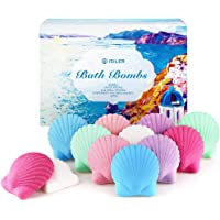 12-Count Isiler 100% Handmade Pure Essential Oil Bath Bombs Gift Set, 4 Oz