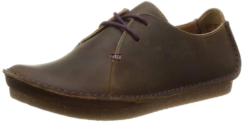 Clarks Janey Mae - Zapatos con Cordones de Cuero Mujer 37.5 EU|Marrón (Beeswax)