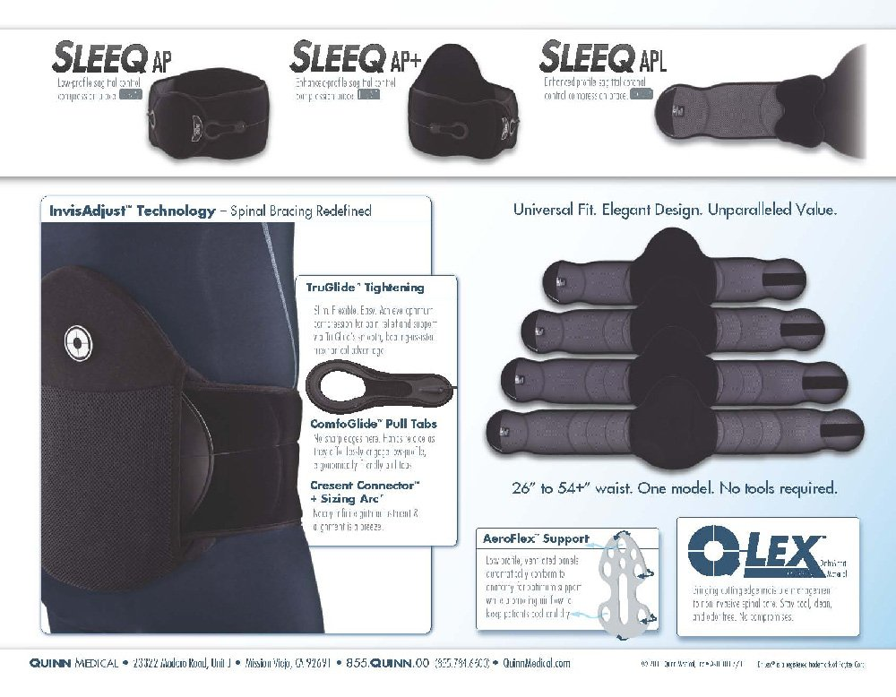 SLEEQ 901100 SPINAL THERAPY SYSTEM (SLEEQ AP) Universal Fit by Sleeq