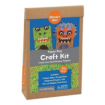 Amazon.com: Mudpuppy Dinosaurios Norma. Bolsa de papel Craft ...