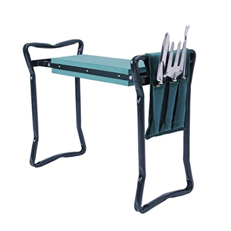 Awe Inspiring Luckyermore Garden Kneeler Seat Gardening Stool Bench Kneeling Pad With Handles Garden Tools Soft Foam Protect Knee With Tool Pouch Ibusinesslaw Wood Chair Design Ideas Ibusinesslaworg