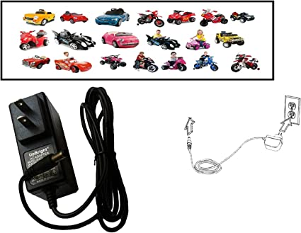 6v Battery Charger for Kids Hello Kitty + Spiderman + Avengers + Viper + BMW I8 Concept Ride On Car By Pure Power Adapters®