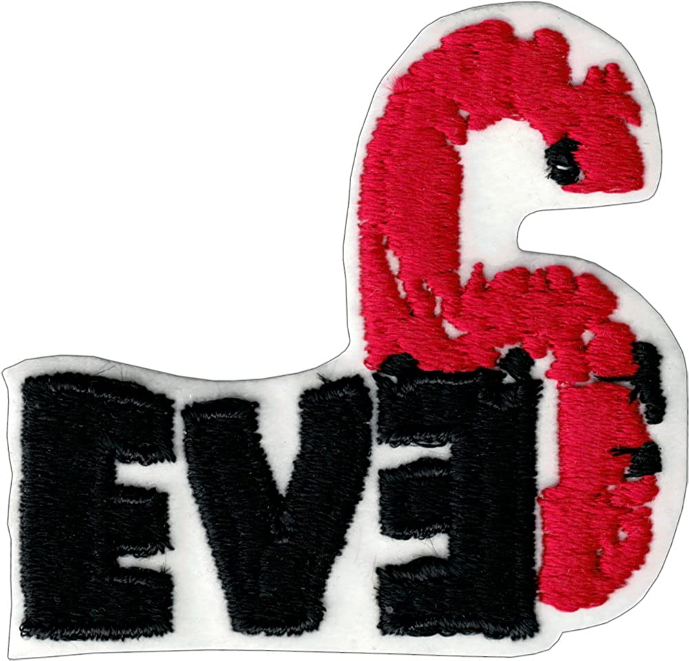 Embroidered Iron On or Sew On Patch Red Eve6 // Eve 6 Black /& White Logo