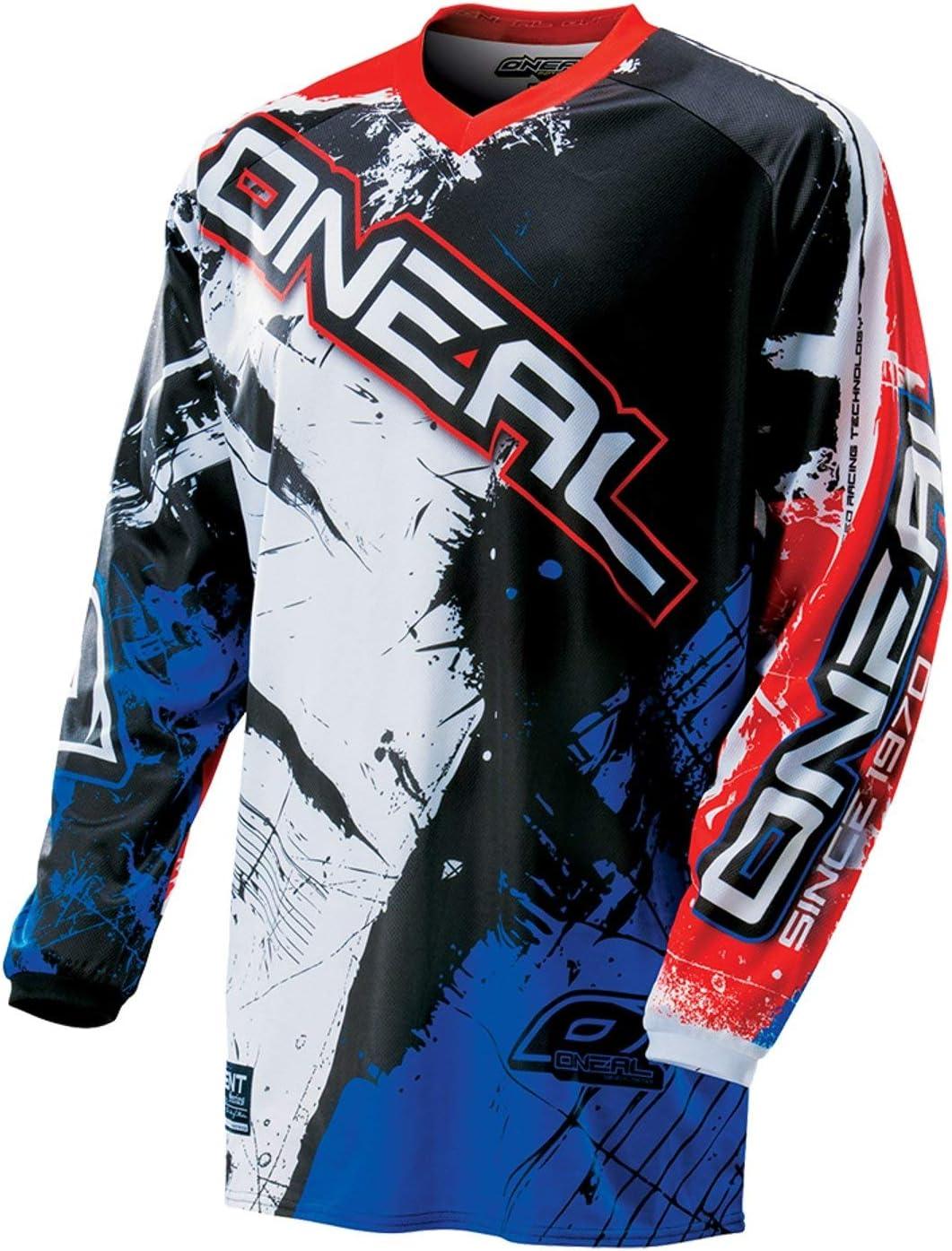 0024S-50 ONeal Element MX Jersey Shocker Schwarz Rot Blau