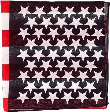 SHIPITNOW Bandana con Bandera Americana Azul marino, Rojo y Blanco - Pañuelo cuadrado 55x55cm Bandera USA - Diadema Americana - Headband: Amazon.es: Ropa y accesorios
