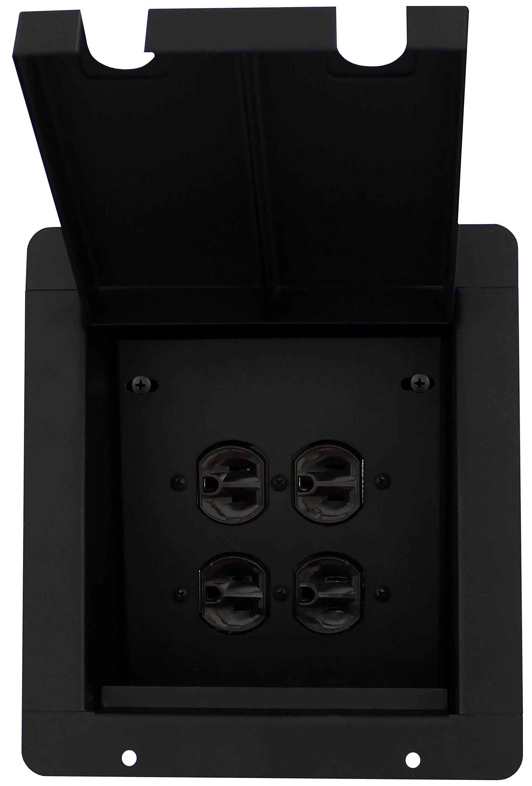 Pro Co Sound PM2AC Recessed Floor Box, 2) AC Duplex Receptacles