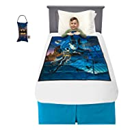 "Franco Bedding Super Soft Plush Kids Weighted Blanket with Bonus Door Knob Pillow, 36"" x 48"" 4.5lbs, Batman"