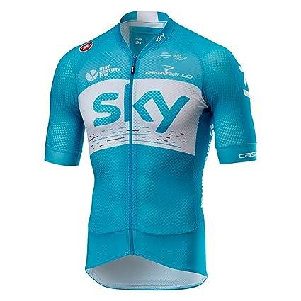 Amazon.com   Castelli 2018 Men s Team Sky Climbers 2.0 Short Sleeve ... 6b4b76639