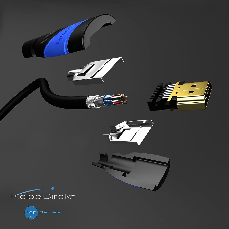 HDMI 2.0a//b, 2.0, 1.4a, 4K Ultra HD, 3D, Full HD 1080p, HDR, ARC, High Speed con Ethernet, PS4, XBOX, HDTV compatibile con TOP Series KabelDirekt 7,5m Cavo HDMI 4K