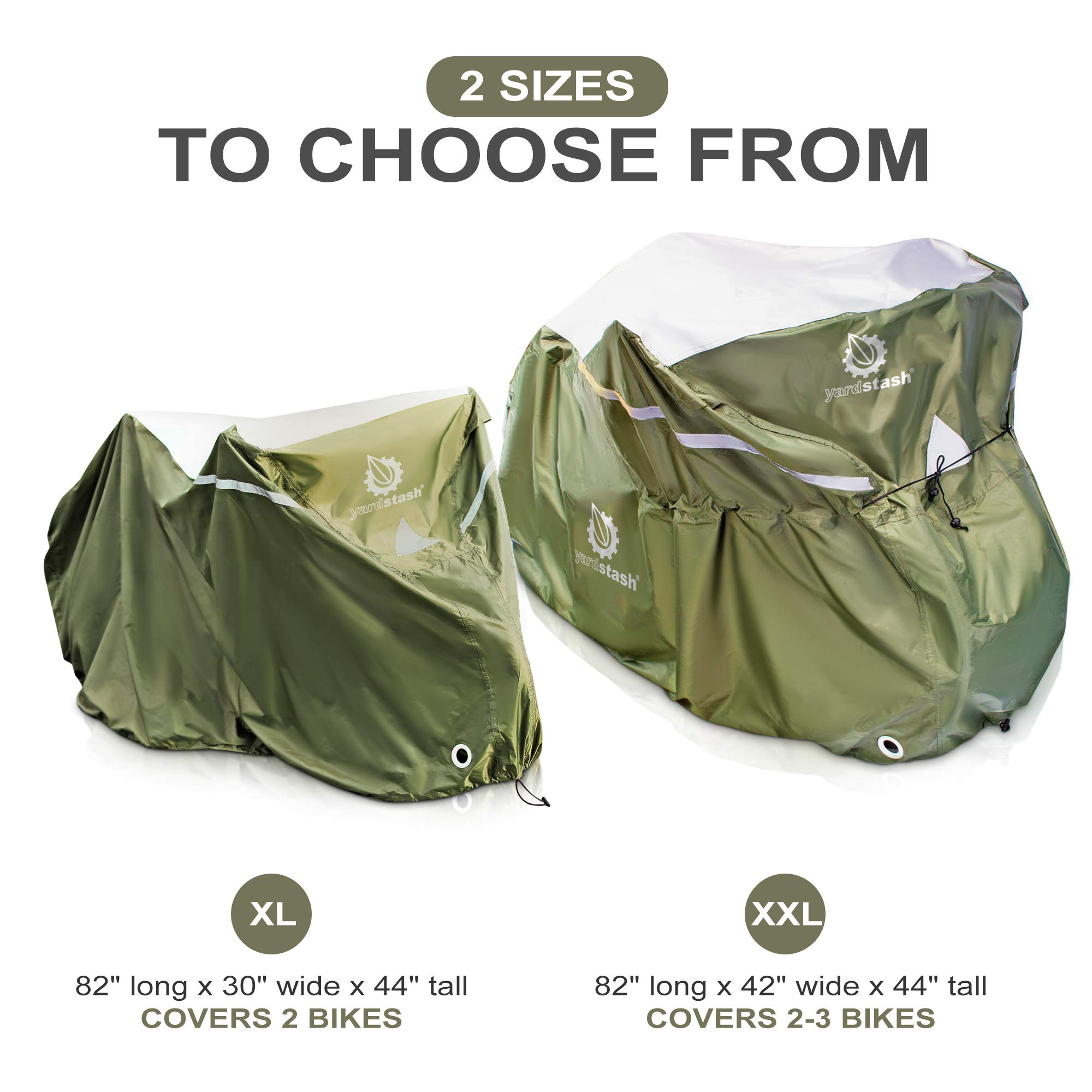 YardStash Bicycle Cover XL: Extra Large Size for Beach Cruiser Cover, 29er Mountain Bike Cover, Electric Bike Cover, Multiple Kids' Bike Cover and Cover for Bikes with Baskets, Child Seats or Racks by YardStash (Image #8)