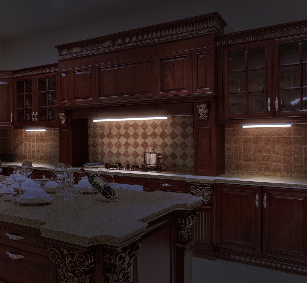 countertop lighting. LED Concepts Under Cabinet \u0026 Closet Linkable T5 Light Bar - Ultra Slim, Cool-Touch Design Great For Kitchen Counter Lighting -ETL Listed Power Supply Countertop H