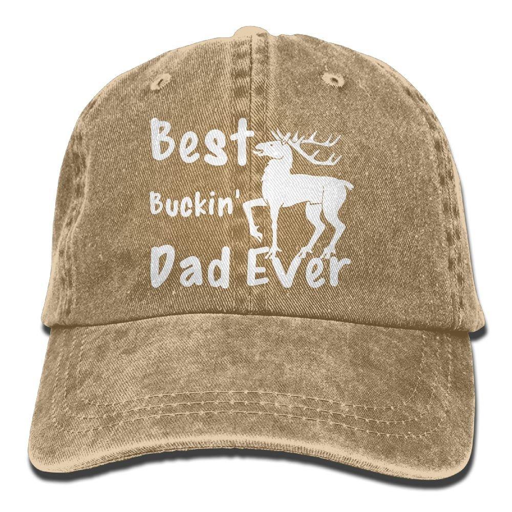 XZFQW Best Buckin Dad Ever Trend Printing Cowboy Hat Fashion Baseball Cap for Men and Women Black