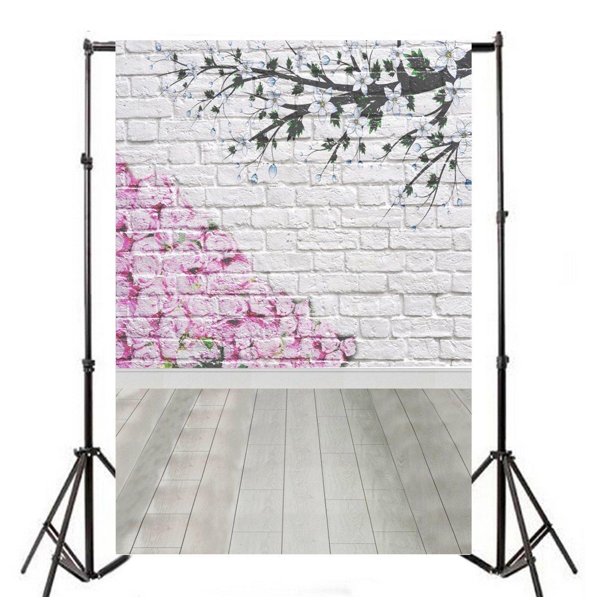 新入荷 X 4 Aofoto 6ft写真バックドロップ芸術的背景whitewashedレンガ