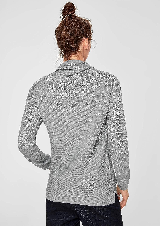 S.Oliver rot LABEL Damen Strukturstrick-Pulli mit Turtleneck B07H52FPFD Pullover Pullover Pullover Sorgfältig ausgewählte Materialien b65b5f