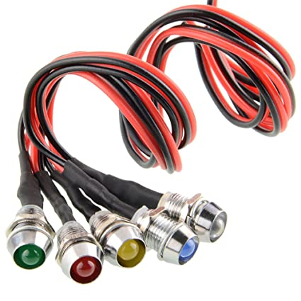 piloto indicador lámpara 5 colores LED la de 12VVario del luces Pcs dBxrCWoe