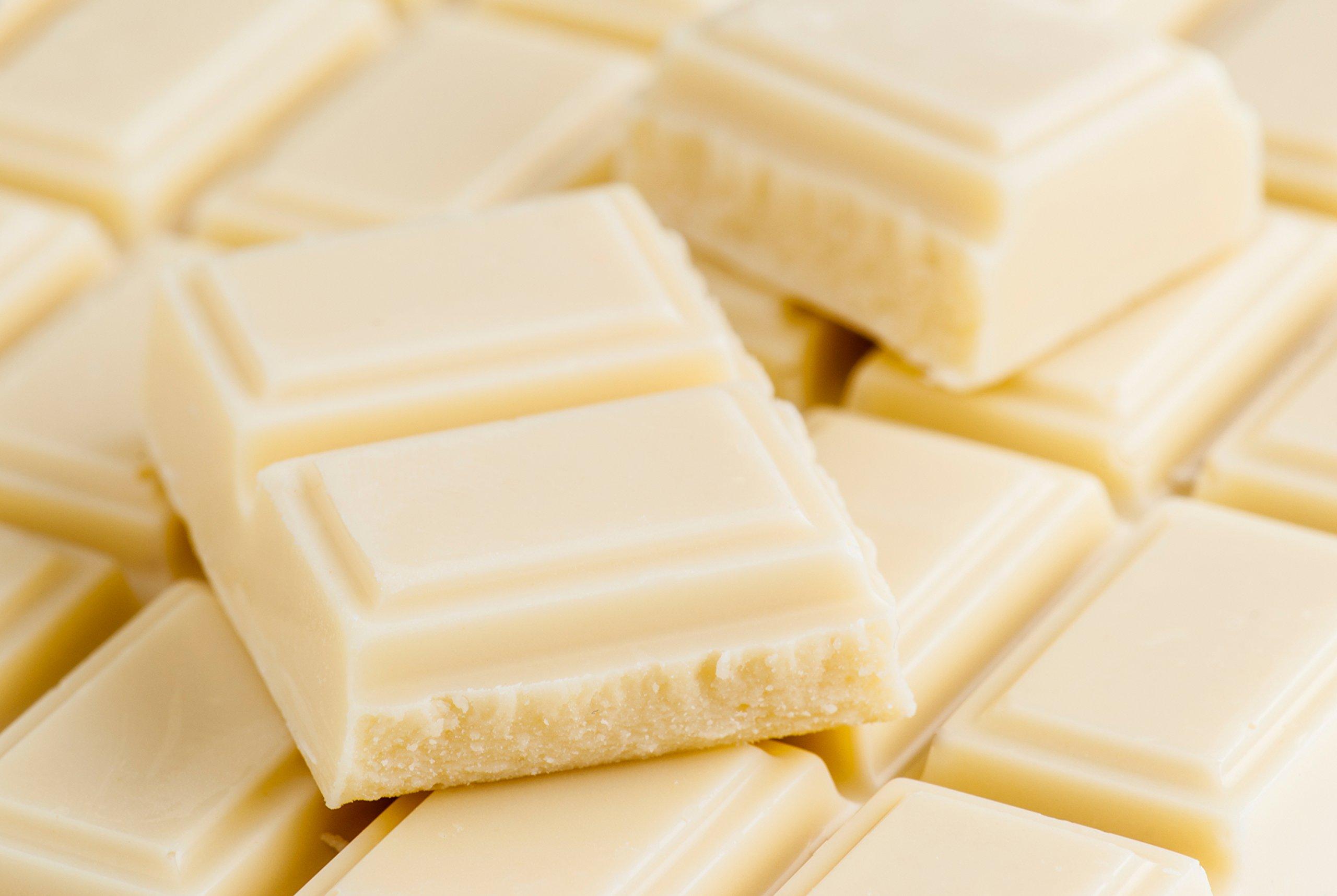 5 Lb Organic Cocoa Butter, Pure, Raw, Unprocessed. Use for Lotion, Cream, Lip Balm, Oil, Stick, or Body Butter. Organically Grown, Non-gmo By Saaqin