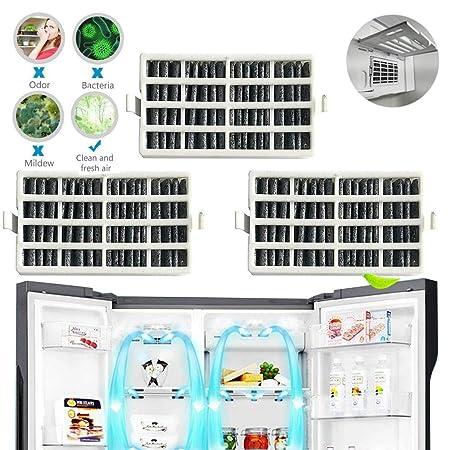 TEEPAO Paquete de 3 filtros de Aire para refrigerador de Repuesto ...
