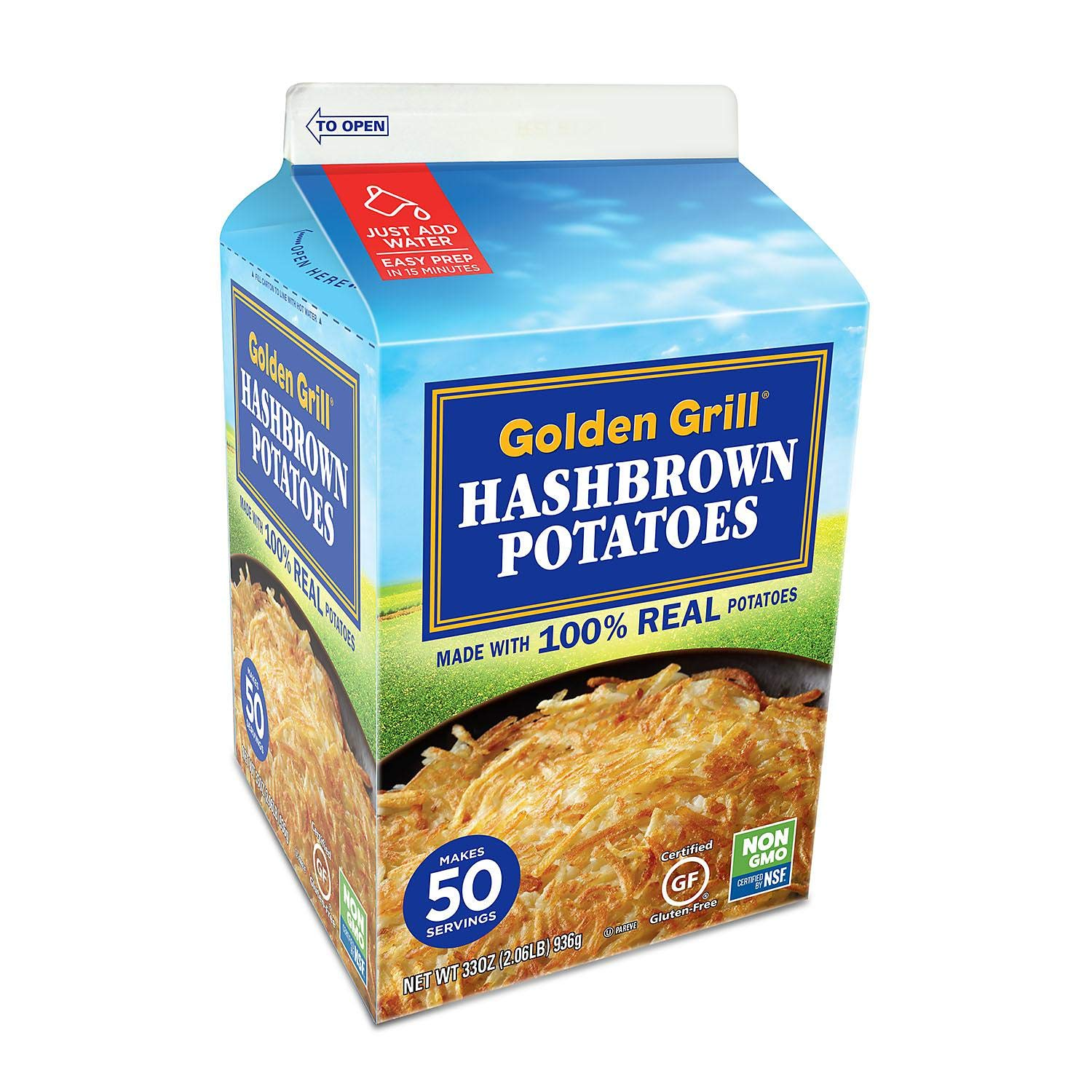 Golden Grill Premium Hashbrown Potatoes 33 oz. A1