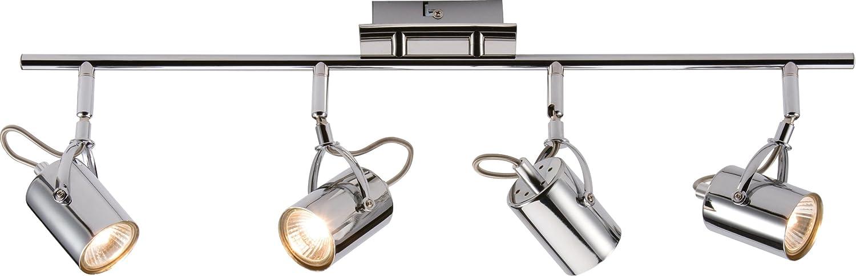 ML450 - IP20 230V GU10 35W 4x CHROME SPOT LAMPS SPOTLIGHT ON 4-WAY BAR FOR CEILING/WALL MOUNT Knightsbridge SP4C