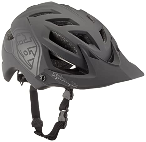 Troy Lee Designs A1 Drone Adult All-Mountain Bike Helmet with TLD Shield  Logo (Black, Medium/Large)