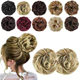 MORICA 2PCS Messy Hair Bun Extensions Curly Wavy Messy Synthetic Chignon Hairpiece Scrunchie Scrunchy Updo Hairpiece for…